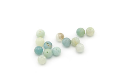 perle amazonite multicolore ronde 6mm x10pcs