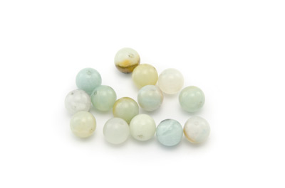 perle amazonite multicolore ronde 8mm x1pc