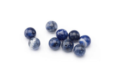 perle sodalite ronde 8mm x1pc