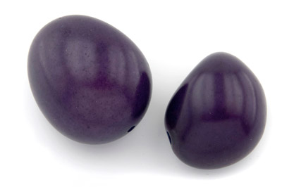 tagua graine  environ 40mm violet x1pc