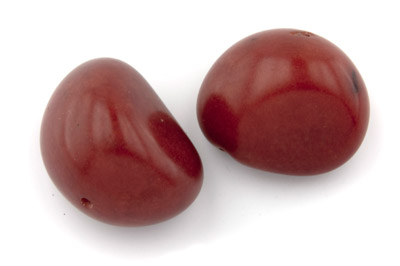 tagua graine  environ 40mm rouge x1pc