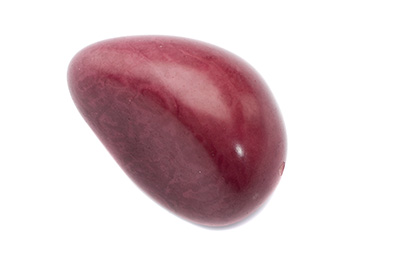 tagua graine environ 40mm lie de vin x1pc