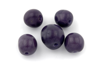 tagua ronde environ 20mm violet x1pc