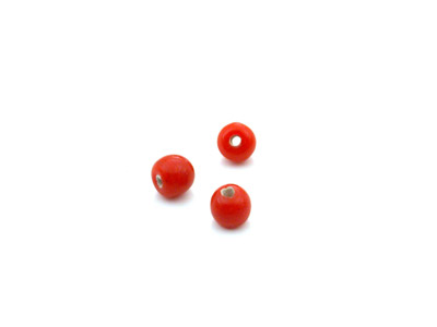 perle ronde 4mm corail brillant x10gr (env 90 pcs)