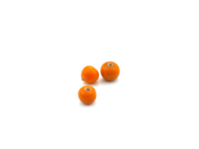 perle ronde 4mm orange brillant x10gr (env 90 pcs)