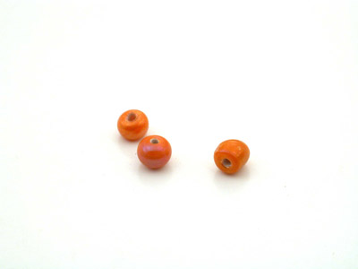 perle ronde 4mm orange lustré x10gr (env 90 pcs)