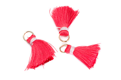 pompon 20mm rose rouge x1pc