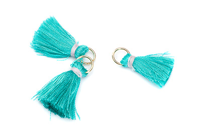 pompon 20mm turquoise x1pc