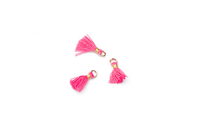 pompon 10mm rose fuchsia x1pce