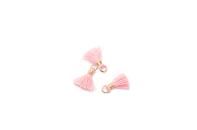 pompon 10mm rose x1pc