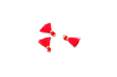pompon 10mm rouge x1pc
