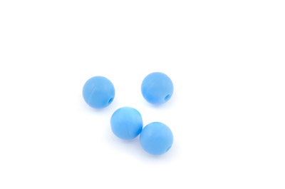 perle en silicone 10mm aquamarine x1pc