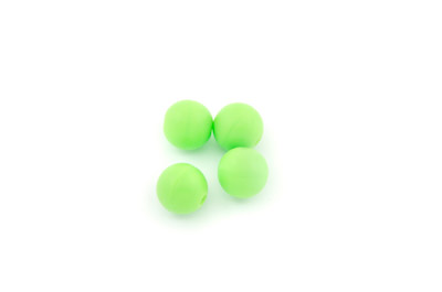 perle en silicone 10mm vert fluo x1pc
