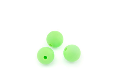 perle en silicone 12mm vert fluo  x1pc