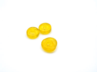 perle rondelle 7mm jaune brillant x10pcs