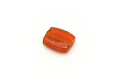 perle carré plat 22mm orange brillant x1pc