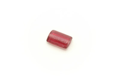 perle rectangle plat 15x10mm rose brillant  x1pc