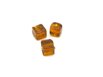 perle cube 5mm topaze clair brillant x10pcs