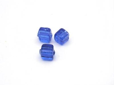 perle cube 5mm bleu ciel brillant x10pcs