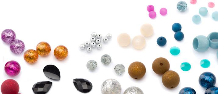 perles en plastique